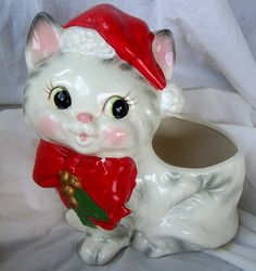 kitty planter. {I use mine to hold candy canes}