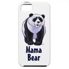 Panda Bear Mama Bear iPhone 5 Covers created by Imagine That! Design; Art by Traci Van Wagoner