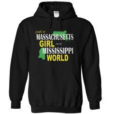 Best gift - Massachusetts Girl in Mississippi T-shirt/mug BLACK/NAVY/PINK/WHITE M/L/XL/XXL/3XL/4XL/5XL