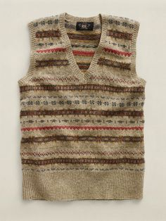 Fair Isle V-Neck Sweater Vest - RRL Sale  - RalphLauren.com