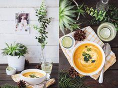 zupa z pieczonej marchwi z koprem