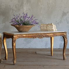 One of a Kind Vintage Coffee Table Louis XV Gilt
