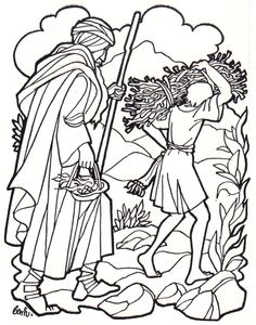 Abraham Was Called to Sacrifice Isaac Coloring Page