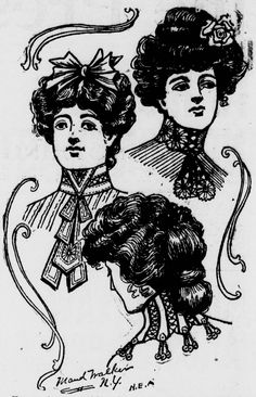 The latest womens' hairstyles from the February 17, 1903 Spokane Press.