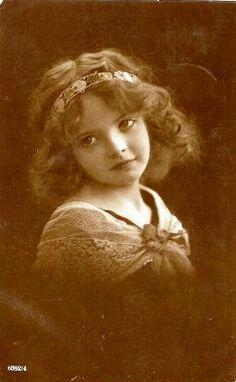 Vintage Postcard ~ Little Girl by chicks57, via Flickr