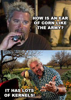 Food Network Humor » Corny Jokes With Guy Fieri