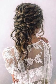 36 Hottest Bridesmaids Hairstyles Ideas ❤️ hottest bridesmaids hairstyles ideas slightly messy textured upgo with hair down cruz. Diy Wedding Hair, Wedding Hair Down, Bridal Hair, Wedding Bride, Wedding Venues, Wedding News, Wedding Dresses, Bride Hairstyles, Down Hairstyles