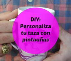 ¡Asombroso lo que se puede hacer con la combinación de dos pintauñas! Fíjate cómo queda la taza con este #diy.