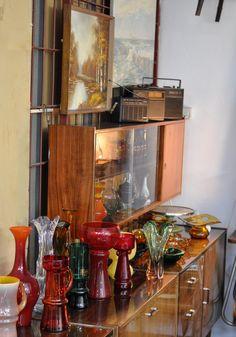 Shaden Workshop, vintage glass, designed by Horbowy, Pijaczewska, Hospodka, Krawczyk ...