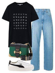 """""""Untitled #1676"""" by deamntr ❤ liked on Polyvore featuring STELLA McCARTNEY, Prada and Puma"""