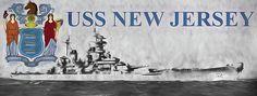uss new jersey,the uss new jersey,uss new jersey battleship,uss new jersey on the new jersey flag,with new jersey flag,new jersey state flag,new jersey flag,bb-62,bb62,battleship bb 62,us navy,usn,us navy in wwii,wwii battleships,naval power,world war two,fast battle ship,nautical,jc findley,flagship,flagships,modern battleship,korean war battleship,the us navy in korea,naval firepower,nj battleship