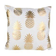 Gold Pineapples Cushion : | Koop NZ |