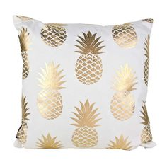 Gold Pineapples Cushion : | Koop NZ |
