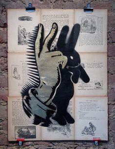 pure evil • gold leaf bunny fingers •