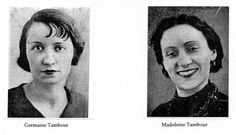 Sisters Germaine(1903-1945) and Madeleine Tambour (1908-1945)belonged to the Resistance network SOE (Special Operations Executive). Arrested in 1943, efforts to liberate them by paying ransom to a German officer were in vain. The three women were deported to Ravensbrück concentration camp in Germany, where they perished, gassed in 1945.