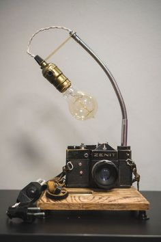 Camera lamp Pride&Joy gifts for him old camera lights gifts for her vintage camera lamp retro camera