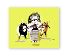 Tea Time Cats - Card