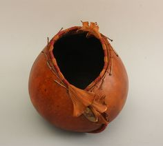 Gourd with Philodendron sheathes from Susan Ashley - TxWeaver.com