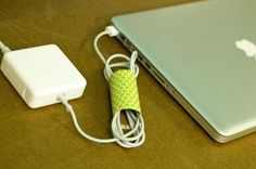 cord cover- could use fancy duct tape for the decor-- or cover with pretty paper using double-sided tape...