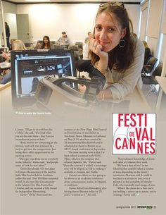 Stockton professor and movie-maker has two entries in famed film festival.