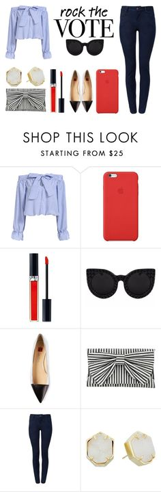 """Untitled #718"" by essynce21 ❤ liked on Polyvore featuring Apple, Christian Dior, Delalle, Ballin, Inge Christopher and Kendra Scott"