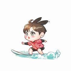 BON VOYAGE JUNGKOOK 히야~! 서핑을해요~