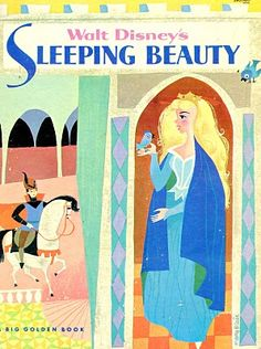 "an-unconventional-lady: ""Mary Blair's cover art for Walt Disney's Sleeping Beauty Big Golden Book "" Mary Blair, Disney Artists, Disney Concept Art, Disney Sleeping Beauty, Princess Aurora, Disney Princess, Little Golden Books, Vintage Children's Books, Vintage Kids"