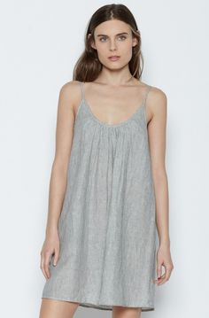 Jorell Linen Dress JOIE www.premiumboutique.com Caviar, Cold Shoulder Dress, White Dress, Tank Tops, How To Wear, Shopping, Clothes, Spring 2016, Dresses