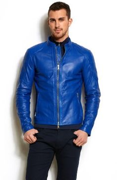 Mens Halem Sport Leather Jacket