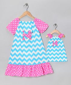 Take a look at this Blue & Pink Embroidered Dress & Doll Outfit - Infant & Toddler by Marjories Daughter on #zulily today!