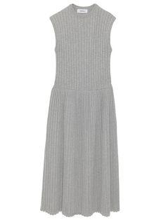プリーツAラインリブニットワンピース(膝丈ワンピース)|Mila Owen(ミラ オーウェン)|ファッション通販|ウサギオンライン公式通販サイト