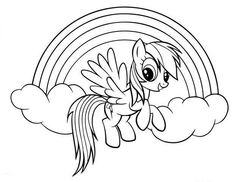 My Little Pony Coloring Pages Rainbow Dash Fish Coloring Page, Horse Coloring Pages, Unicorn Coloring Pages, Cute Coloring Pages, Cartoon Coloring Pages, Disney Coloring Pages, Coloring Pages For Kids, Coloring Books, Free Coloring