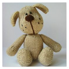 Bernie the Dog knitting pattern - Independent Designers at LoveKnitting