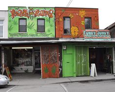 Roach.o.rama and Funky Junky | Kensington Market shops at Augusta Ave and Baldwin St., Toronto.