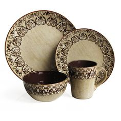@Overstock.com - American Atelier Mehndi 16-Piece Dinnerware Set - This set features a reactive glaze finish that enhances the shine and color finish.  http://www.overstock.com/Home-Garden/American-Atelier-Mehndi-16-Piece-Dinnerware-Set/6358917/product.html?CID=214117 $62.99