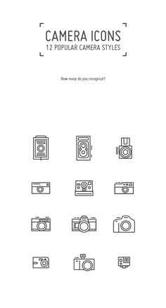 Camera Icons Set by angeloletra -, via Behance - ∞ I n k e d ∞ - kamera Tattoo Design Drawings, Tattoo Sleeve Designs, Sleeve Tattoos, Camera Tattoo Design, Photographer Tattoo, Tattoo Photography, Photography Camera, Photography Settings, Photography Tips