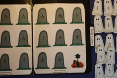 Spooky Fractions File Folder Game Download Halloween Fall Math Printable Time Filler Matching First Second Educational Games For Kids by MyFileFolderGames on Etsy