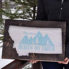 New! The perfect wall hanging to remind you of how magical Montana truly is. Made by hand, in Montana, by us. Please note wall hangings may ship separately from your order and take additional time to