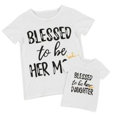 Family Outfits Clothes Mother Daughter Kid Matching T-Shirt Womens Girls Party