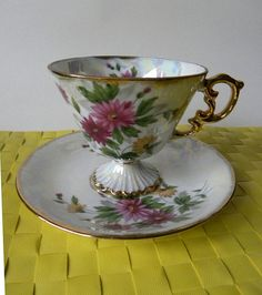 Norleans September Aster Coffee Tea Cup by Scentsiblescents, $10.00