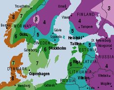 Hardiness Zone Map for Scandinavia and Baltics