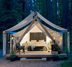 Pampered Wilderness, Safari Suite - Olympia National Park (Washington) ~ GLAMPING♡♡