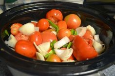 Crock Pot Tomato Sauce from your garden tomatoes