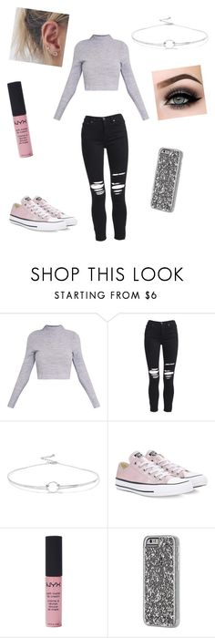 """""""Lauryn"""" by cassandra-twining ❤ liked on Polyvore featuring AMIRI, Noir Jewelry, Converse, ASAP, NYX and Case-Mate"""