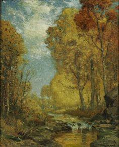 Autumn Landscape - Franklin de Haven Figurative, Documentaries, 18th, Landscapes, Salt, Paintings, Autumn, Paisajes, Scenery