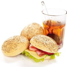 Typical Swedish Sandwich with a cup of tea, Yummy!