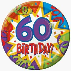 Birthday Blast 60th Birthday 7-inch Paper Plates 8 per Pack by Creative Converting. $2.99. Design is stylish and innovative. Satisfaction Ensured.. Manufactured to the Highest Quality Available.. Creative Converting is a leading manufacturer and distributor of disposable tableware including high-fashion paper napkins plates cups and tablecovers in a variety of solid colors and designs appropriate for virtually any event.