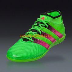 competitive price 928d4 d05fa Comprar Zapatilla de futbol sala Adidas Ace 16.3 Primemesh IN Solar Verde  Rosa Choque Negro Core