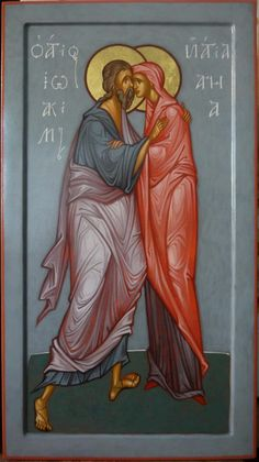 MAXIM SHESHAKOV, St. Joachim and ST. Anna. Egg tempera on gessoed panel.
