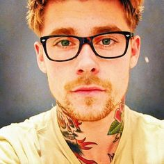 The tattoo is a plus i have a thing for gingers and omg his eyes are green even more sexy ;)